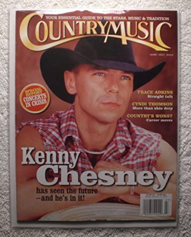 Kenny Chesney Country Music Magazine Junejuly 2002 No Address