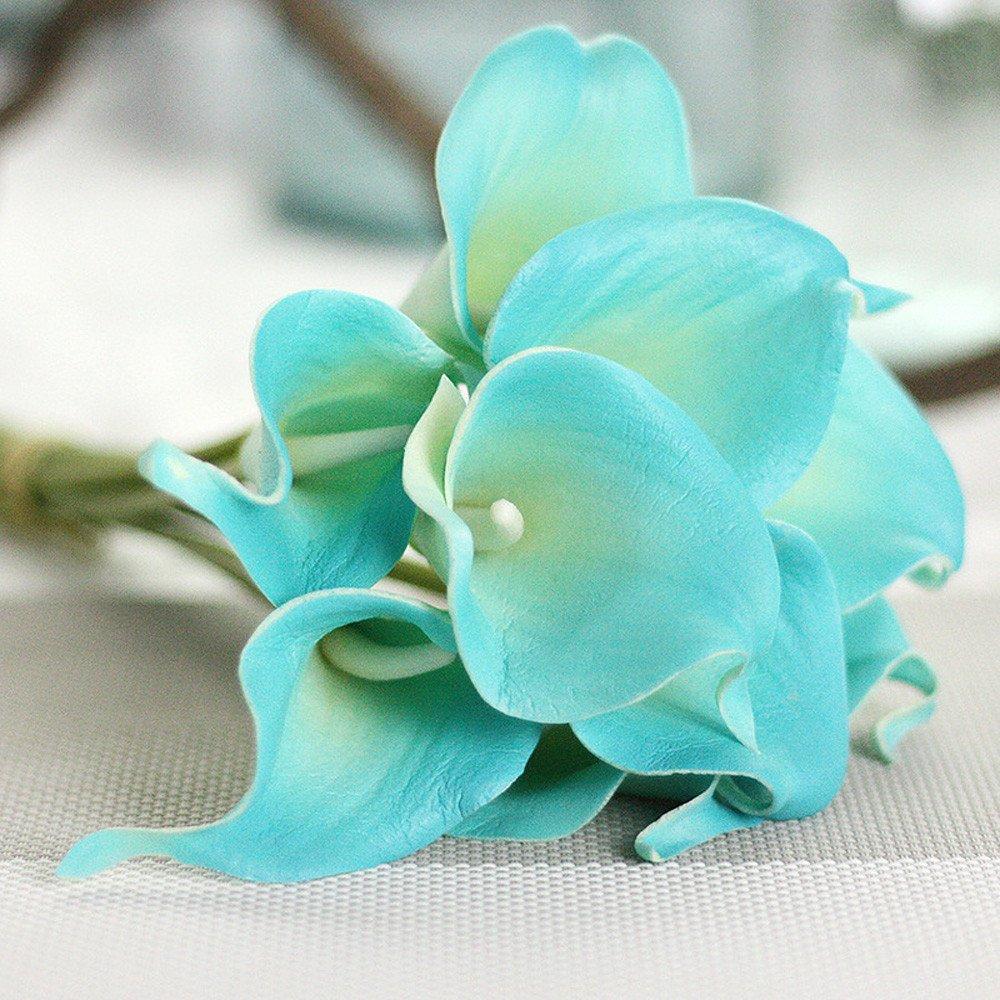 Subfamily 6 tiges Calla Lily Fleurs Mariage F/ête De Mariage Accueil D/écors Bouquet en Latex Toucher R/éel Fleur Bouquet Fleurs Artificielles
