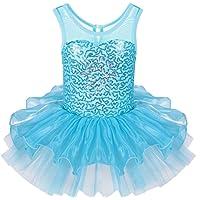 ZNYUNE Tutu Ballet Danse Robe Princesse Classique sans Manches pour Fille 3-8 Ans