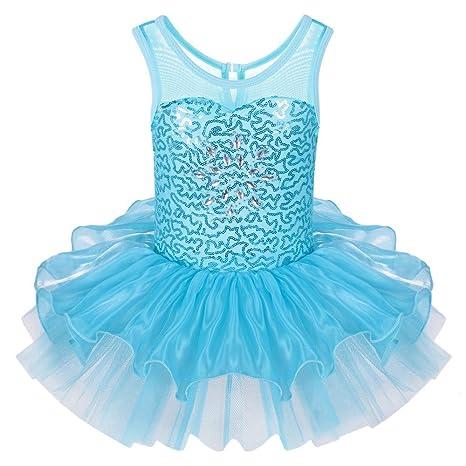 810b3425262b ZNYUNE Girls Kids Ballet Dress Princess Sparkly Ballet Leotards Tutu ...