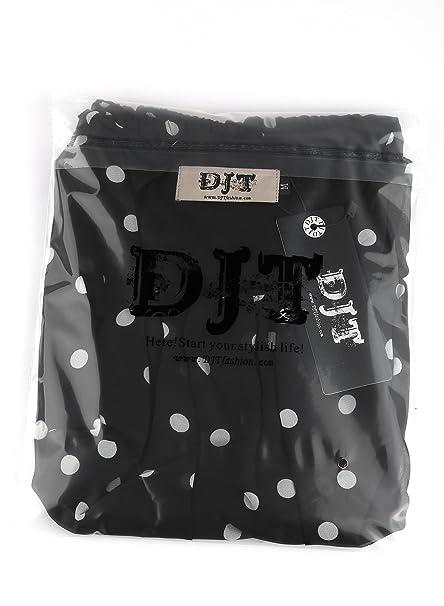 DJT-Chiffon Blusa Comoda Estampada de Lunares Ligeramente Transparente Negro-Blanco XX-Large: Amazon.es: Ropa y accesorios