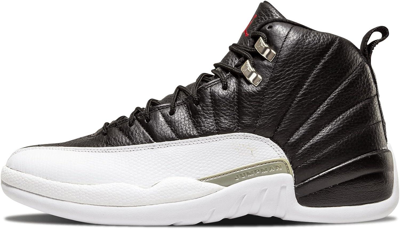 Nike Air Jordan 12 Retro Playoff - Zapatillas de Baloncesto para Hombre (Piel), Negro (Black/White-Varsity Red), 43 EU: Amazon.es: Zapatos y complementos