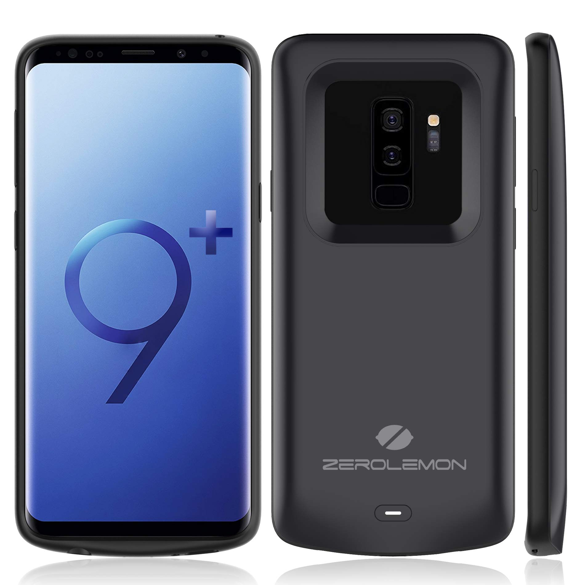 Samsung Galaxy S9 Plus Battery Case, ZeroLemon Slim Power 5200mAh Extended Battery with Soft TPU Full Edge Protecton Case for Samsung Galaxy S9 Plus - Black