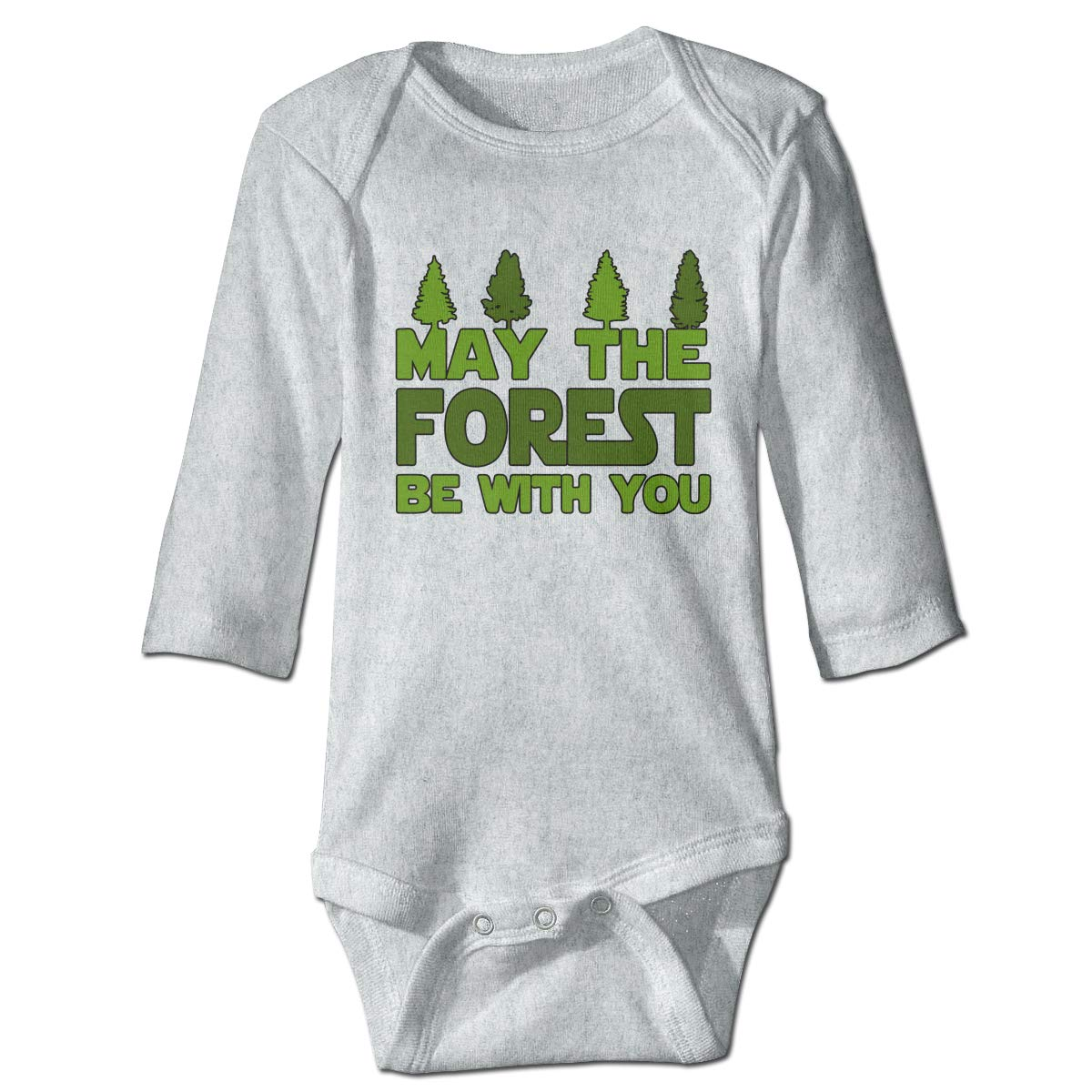 A14UBP Baby Infant Toddler Romper Bodysuit Jumpsuit May The Forest Be with You2 Long Sleeve Funny Baby Clothes