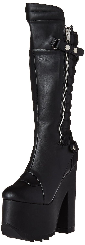 Black Vegan Leather Demonia Womens Cra200 Bvl Boot