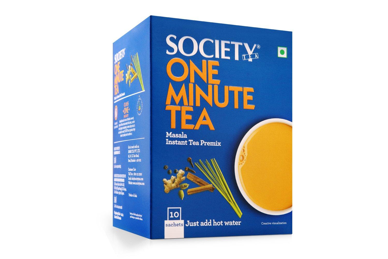 Society One Minute Tea Premix - Masala Flavour, 10 Sachets