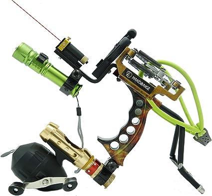 Bowfishing Slingshot Hunting Fishing Catapult Outdoor Ball Sling Reel Shooting