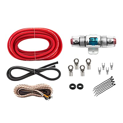 CT Sounds 4 Gauge CCA Complete Wiring Amp Installation 4GA Ref Reference Amplifier Wire Kit: Car Electronics