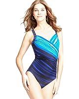 Miraclesuit Womens One Piece Swimsuit Sanibel Blue
