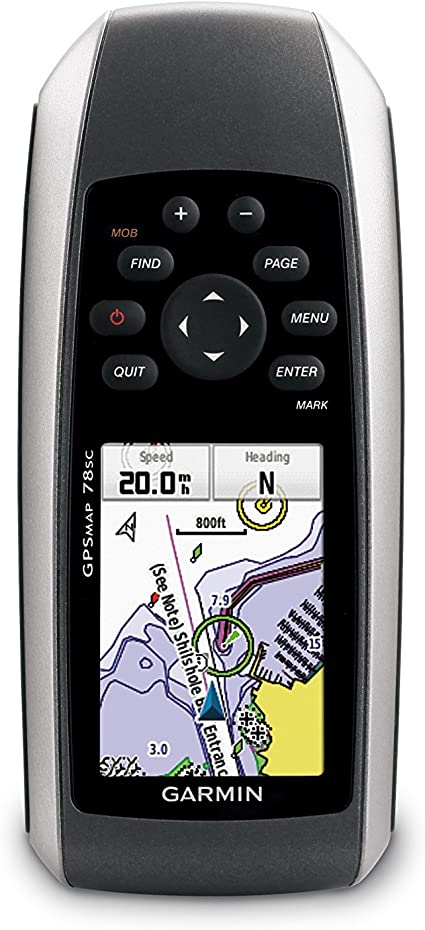 Garmin GPSMAP 78s Handheld GPS Navigator//Chartplotter with Compass//Altimeter//MOB