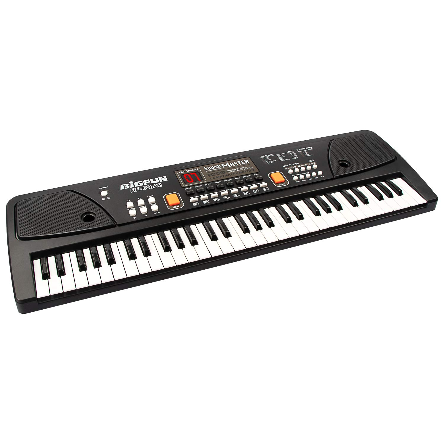 aPerfectLife 61 Keys Piano Keyboard for Kids Multifunction Portable Piano Electronic Keyboard Music Instrument for Kids Early Learning Educational Toy (Black) by aPerfectLife