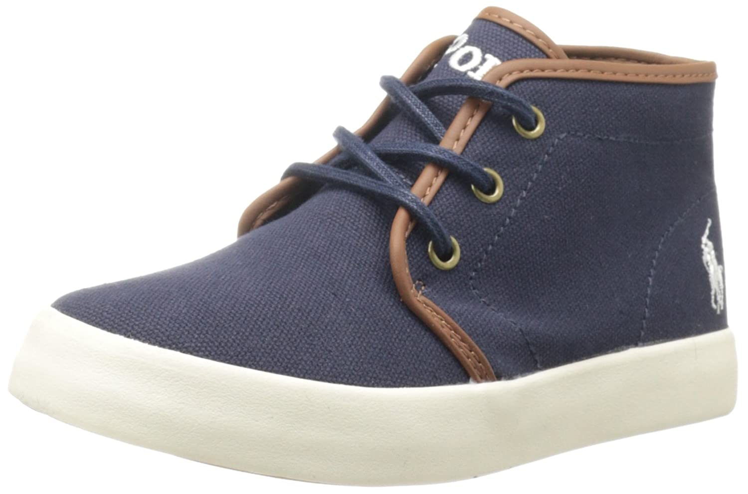 Polo Ralph Lauren Kids Ethan Mid Lace-Up Sneaker (Toddler/Little Kid/Big Kid) Ethan Mid - K