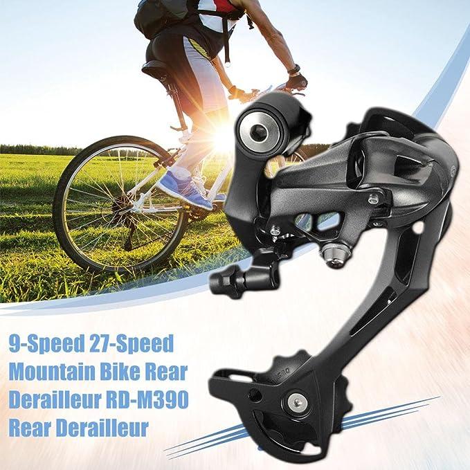Derailleur RD-M390 - Desviador trasero para bicicleta de montaña de 9 velocidades y 27 velocidades, fijación directa para bicicletas de montaña: Amazon.es: ...