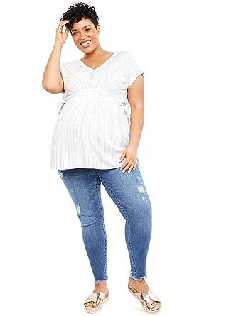 e35c9893f3024 Jessica Simpson Plus Size Secret Fit Belly Skinny Leg Maternity Jeans at Amazon  Women's Clothing store: