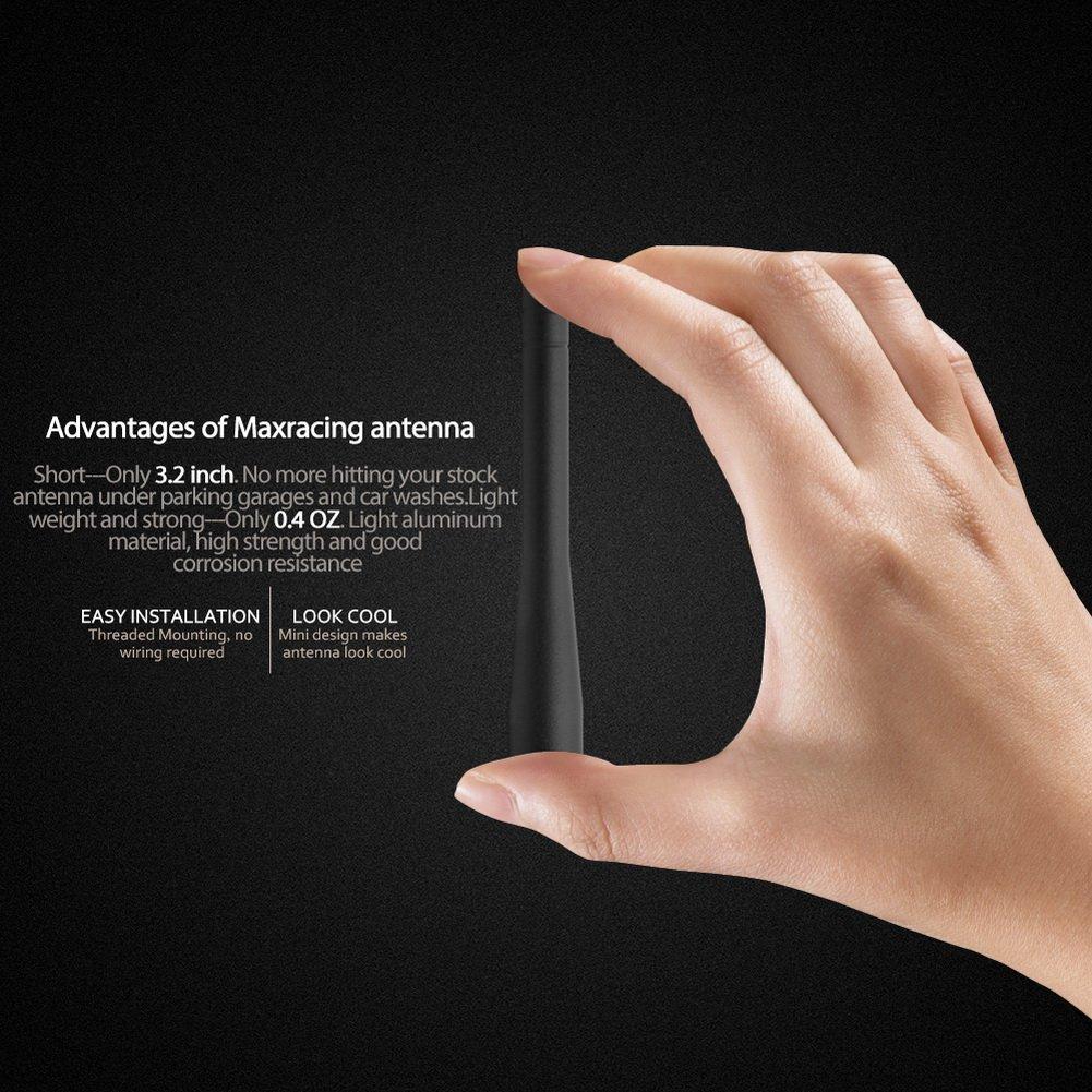 Maxracing Short Aluminum Antenna for Dodge RAM 1500 2012-2018