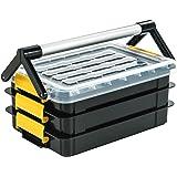 イーサプライ 工具箱 ツールボックス 3段 取っ手付 樹脂 EEX-TBX01