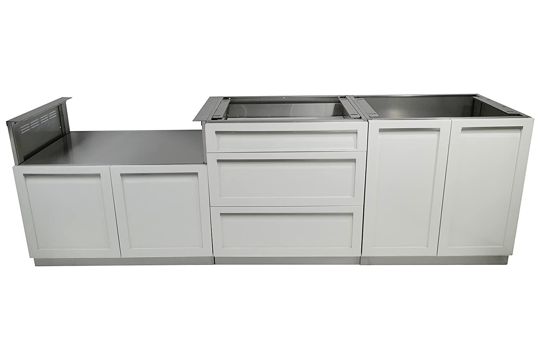 4 Life Outdoor W40077 Outdoor Kitchen Cabinet, 3-Piece Set (104\