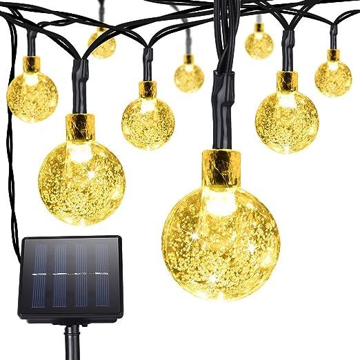 Litom Aussen Weihnachtsbeleuchtung Solar Lichterkette Garten