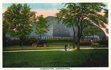Amazon Com Chicago Illinois Exterior View Of The Conservatory At Garfield Park 29834 12x18 Signed Print Master Art Print Wall Decor Poster Posters Prints