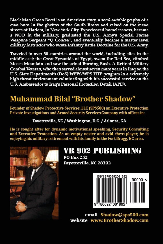 Black Man Green Beret The Semi Autobiography Of Brother Shadow Muhammad Bilal  Amazon Com Books