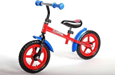 Bicicleta del Niño sin Pedales Spiderman de Metal de 12 Pulgadas ...