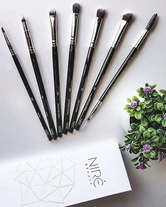 Niré Beauty Pinceles de Maquillaje para Ojos: Juegos de Maquillaje 100% Vegano, Profesional de Alta Calidad: Amazon.es: Belleza
