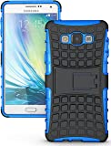 Heartly Flip Kick Stand Spider Hard Dual Rugged Armor Hybrid Bumper Back Case Cover For Samsung Galaxy A7 2015 SM-A700F - Power Blue