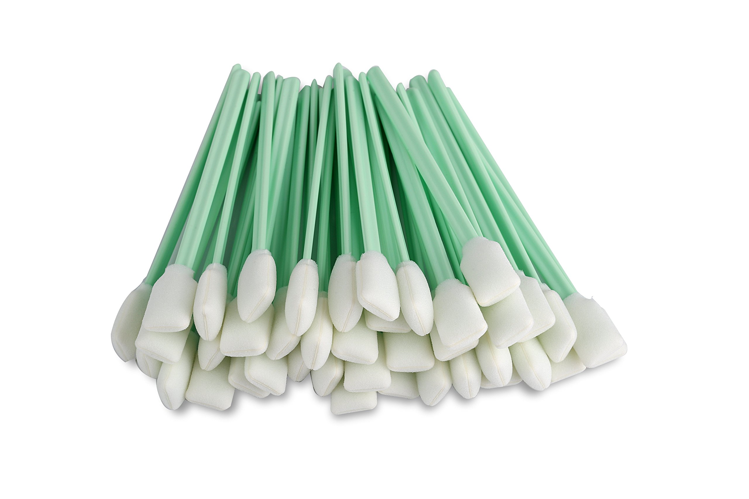 Zetek 5'' Long 100 pcs Foam Tip Cleaning Swabs Sponge Stick for Inkjet Print head Optical Lens Gun Cleaning Solvent Resistance