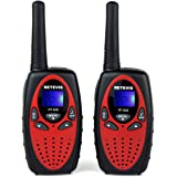 Retevis RT628 Kids Walkie Talkies 22 Channel FRS/GMRS UHF 462.550- 467.7125MHz 2 Way Radio Toy(Red,2 Pack)