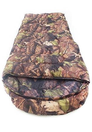 SUHAGN Saco de dormir Engrosamiento De Exterior, Sobres, Bolsas De Dormir Camping Camuflaje Adultos