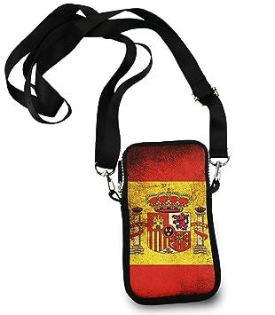 722af92c2 ESTLISS Cartera pequeña para teléfono Celular, Bandera de España Vintage, Bolso  Bandolera de Moda para Mujer, Bolso Bandolera con Correas Ajustables para  ...