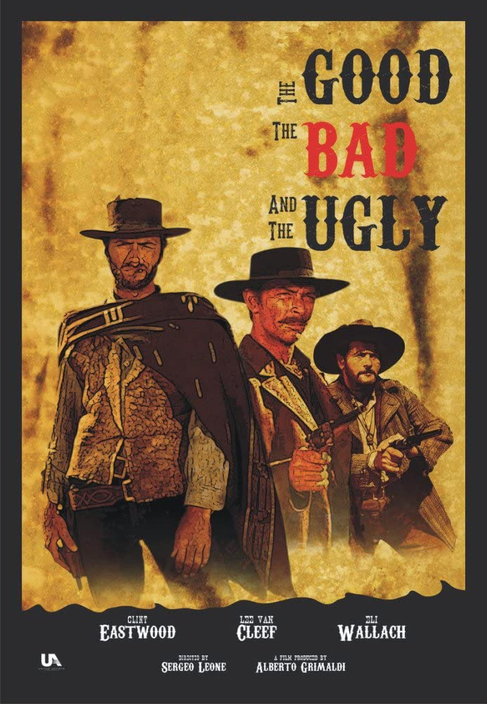 THE GOOD THE BAD AND THE UGLY CLINT EASTWOOD FILM MOVIE PRINT PREMIUM POSTER