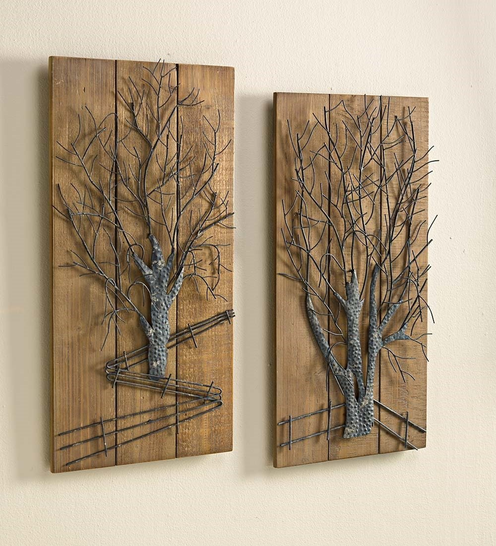 Metal And Wood Wall Art