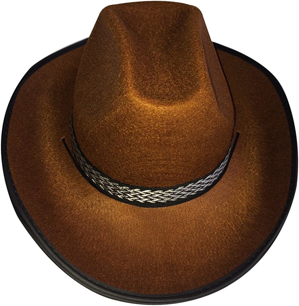 Brown Dress Up America Unisex-Adults Cowboy Hat