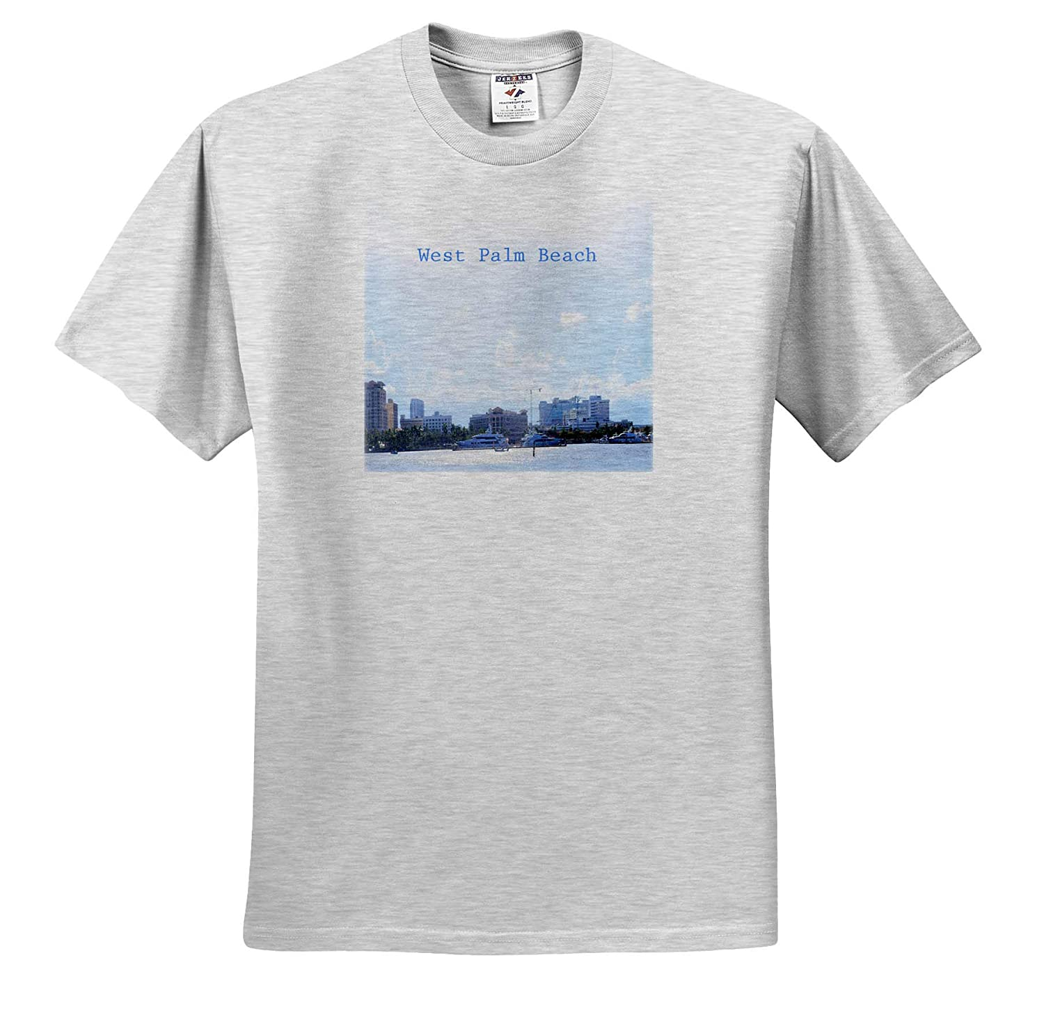 Image of Boats at West Palm Beach T-Shirts 3dRose Lens Art by Florene Fantastic Florida