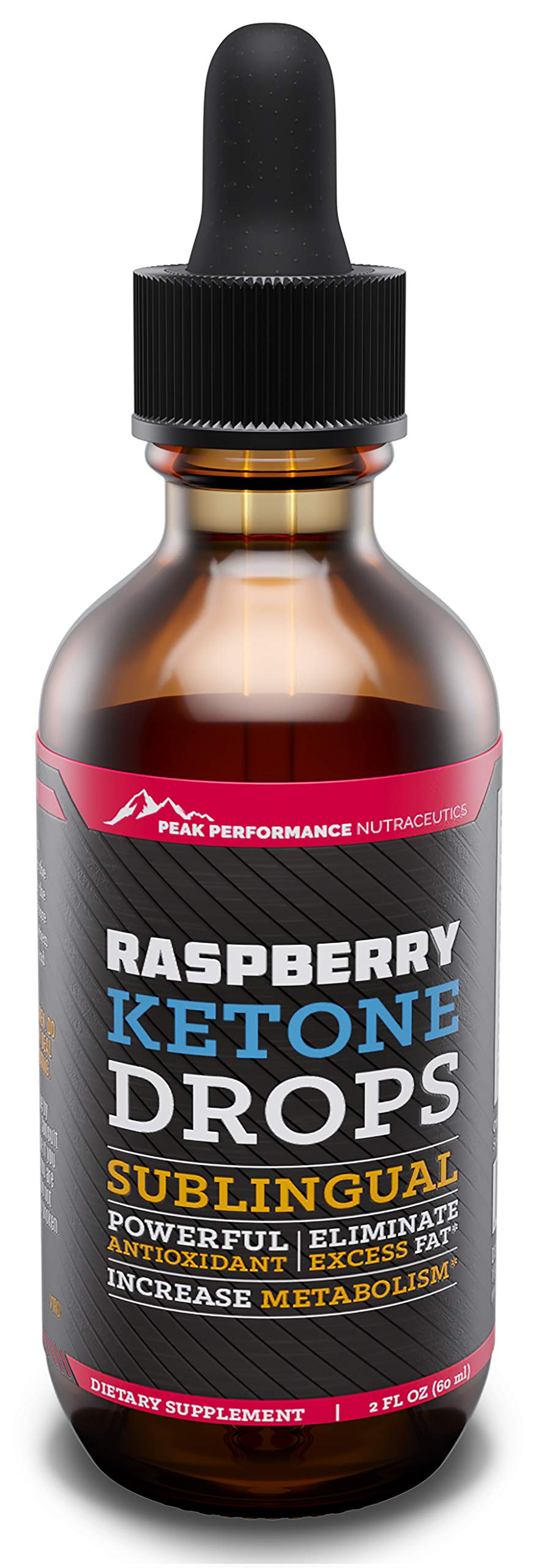 Raspberry Ketones Liquid Extract Supplement. Appetite Suppressant Drops for Fast Weight Loss, Cleanse and Detox. Powerful Ketone Antioxidant. Energy, Metabolism and Immune System Booster. 2 Ounces by Peak Performance Nutraceutics