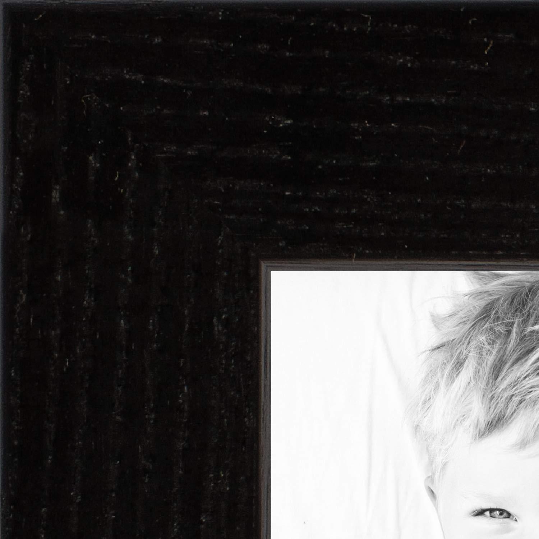 ArtToFrames 13x24 inch Black on Red Oak Wood Picture Frame, 2WOM0066-1343-YBLK-13x24