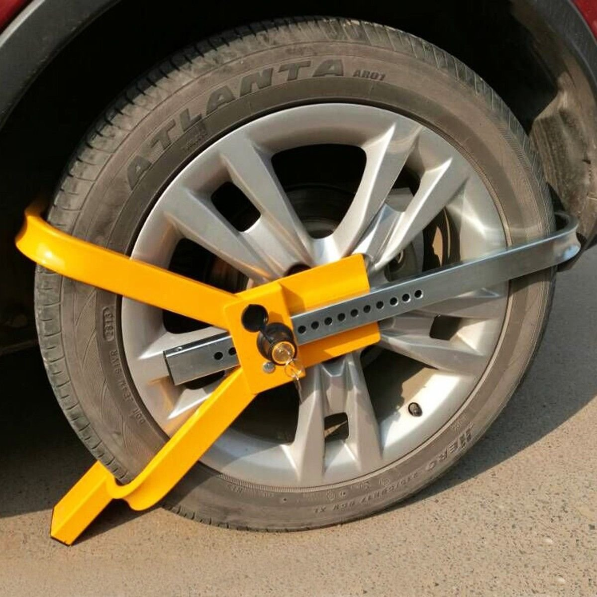 Goplus Wheel Lock Tire Trailer Auto Car Truck Anti-Theft Security Towing Tire Clamp by Goplus (Image #2)