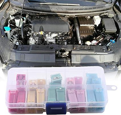 Starter 20 Stück Jcase Blocksicherung Mini Auto Sicherung 20a 30a 40a 50a 60a Passform Für Ford Chevy Gm Nissan Und Toyota Pickup Trucks Pkw Und Suvs Küche Haushalt