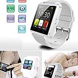 Bluetooth スマート ウォッチ 1.46インチ 超薄型 多機能腕時計 健康 防水 タッチパネル 着信お知らせ/置き忘れ防止/歩数計/ストップウォッチ/高度計/アラーム時計/ ホワイト