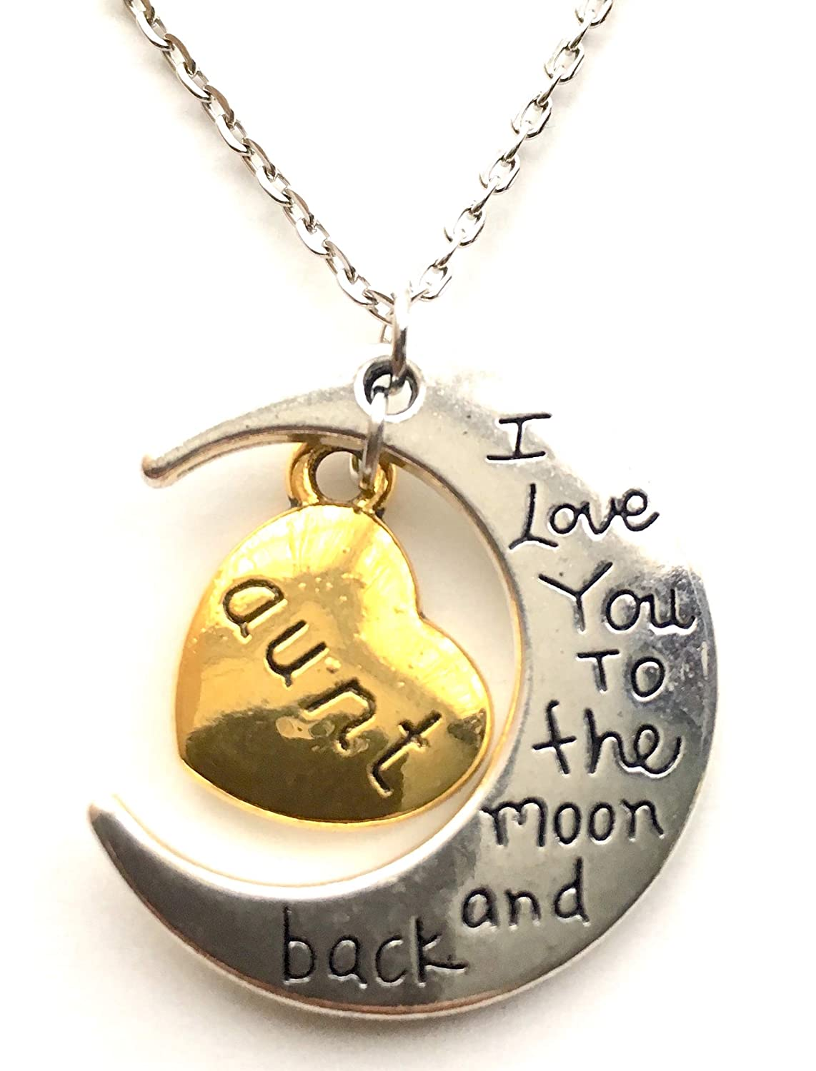 4 I love you to the moon and back charms antique silver tone M717