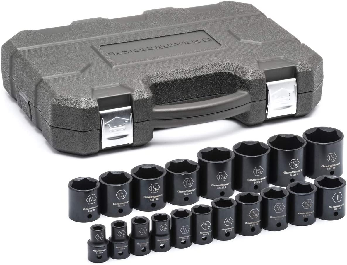 84906 GEARWRENCH 10 Pc 1//4 Drive 6 Point Standard Impact SAE Socket Set