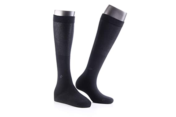 73ac76c44db Image Unavailable. Image not available for. Color  Bonny Silver Compression Socks  for Women Men Antibacterial Anti Odor Womens Mens Knee High ...