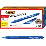 BIC Velocity Bold Retractable Ball Pen, Bold Point (1.6mm), Blue, 12-Count