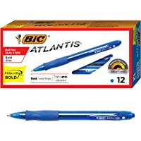 BIC Velocity Bold Retractable Ball Pen Bold Point (1.6mm) Blue 12-Count