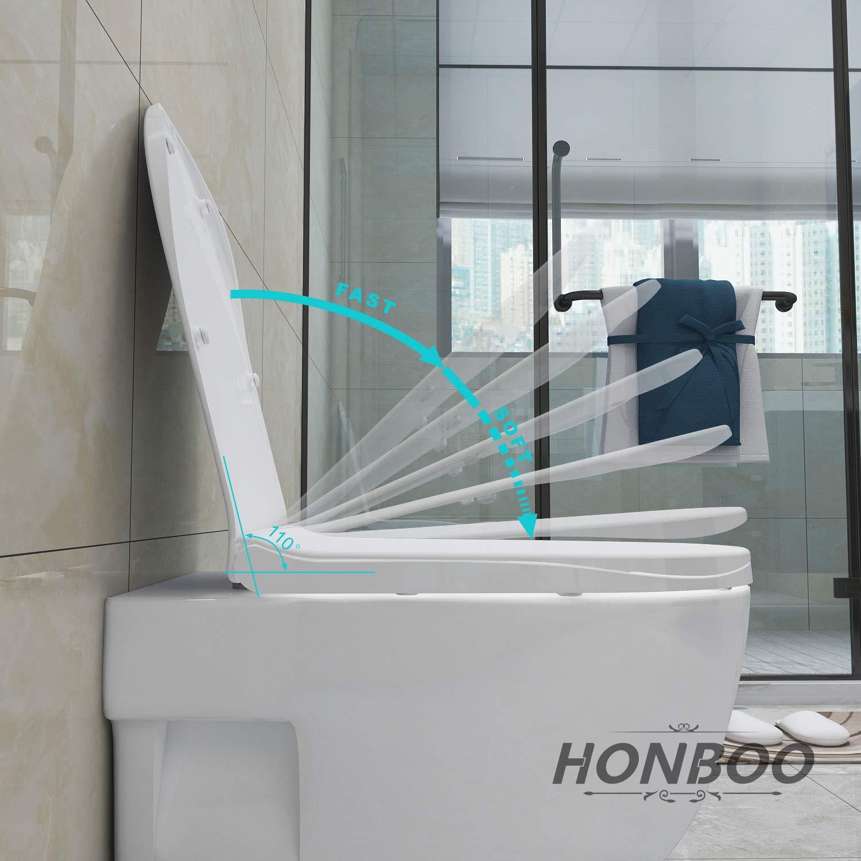 D Form Toilettendeckel WC Sitz Klodeckel mit Absenkautomatik Toilettenbrille