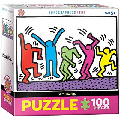 EuroGraphics Dancing by Keith Haring 100-Piece Puzzle: Toys & Games