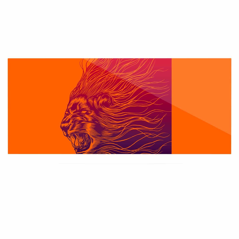 24 x 36 Kess InHouse BarmalisiRTB Furious Orange Animals Luxe Rectangle Panel