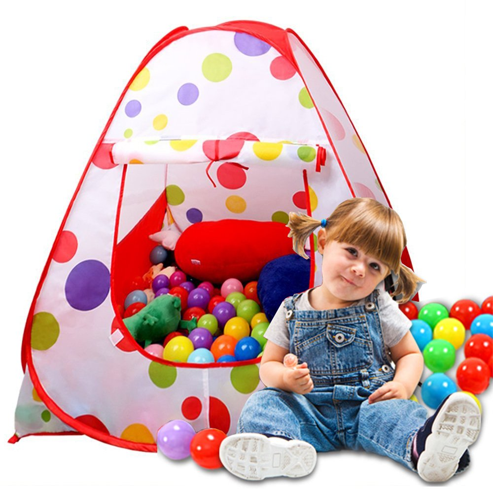 Kits Spielen Zelt, Sonyabecca Bällebad Haus für Kinder-Zelt Spielen Zelte für Mädchen Indoor-Outdoor-Märchen-Zelt T-TP03-mfn