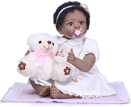 18/'/' Silicone Reborn Baby Dolls Realistic American Baby Doll for Girls Baby Toys